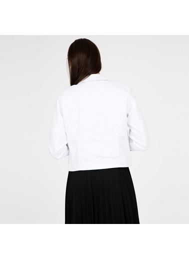 Vero Moda Jean Ceket Beyaz